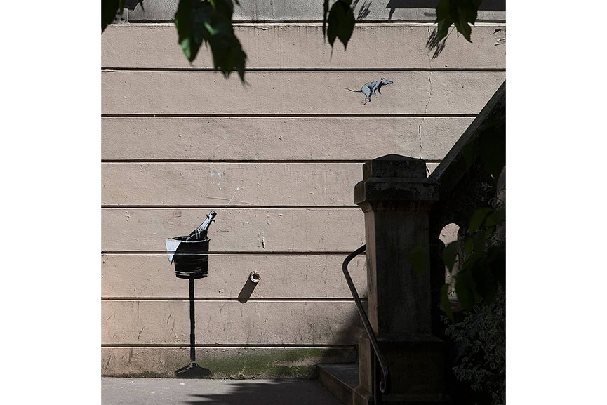 Banksy Staircase Montmartre Paris 2018