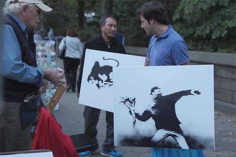 Banksy originals sold for 60$