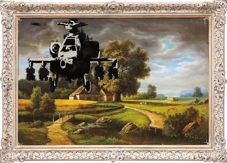 Banksy-Study for Happy Choppers-2003