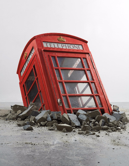 Banksy-Submerged Phone Boot-2006