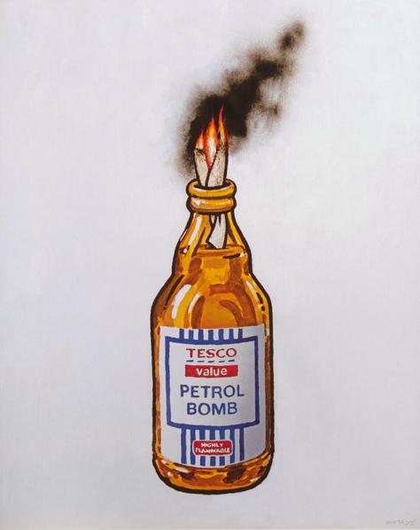 Banksy-Tesco Petrol Bomb-2011
