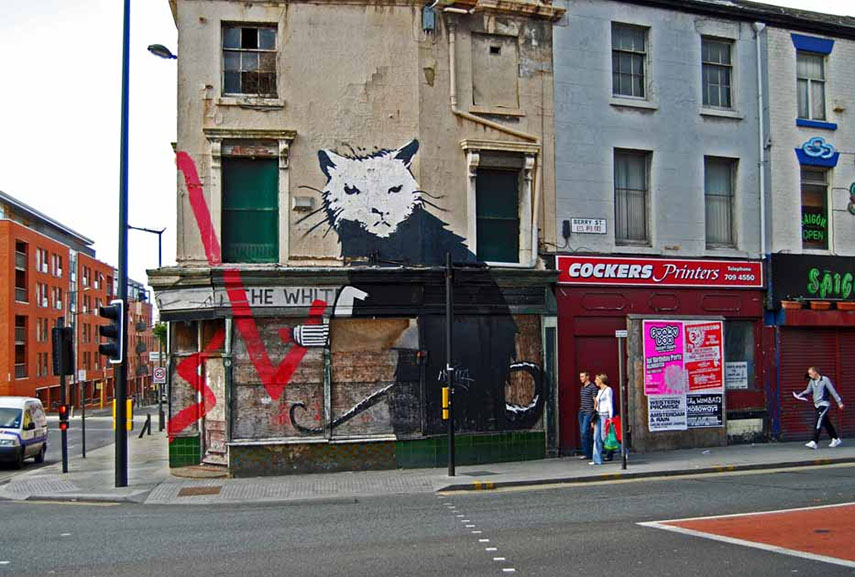 Banksy - The Rat in Liverpool,