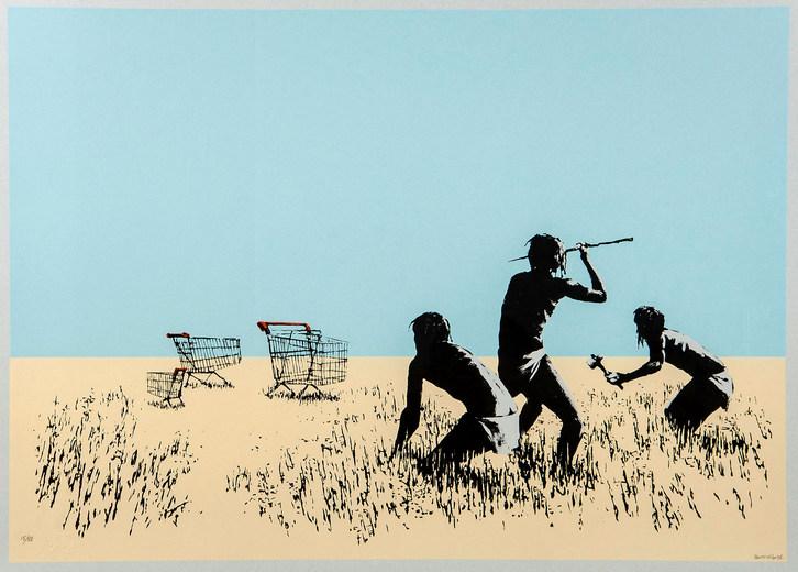 Banksy-Trolleys (Bethlehem Edition)-2007