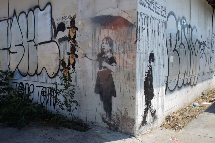 Banksy - Umbrella Girl, 2008 in 2013