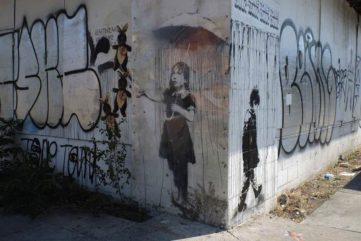 Banksy - Umbrella Girl, 2008 in 2013