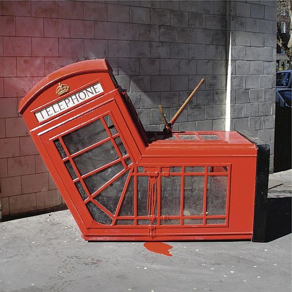 Banksy-Vandalised Phone Box-2005