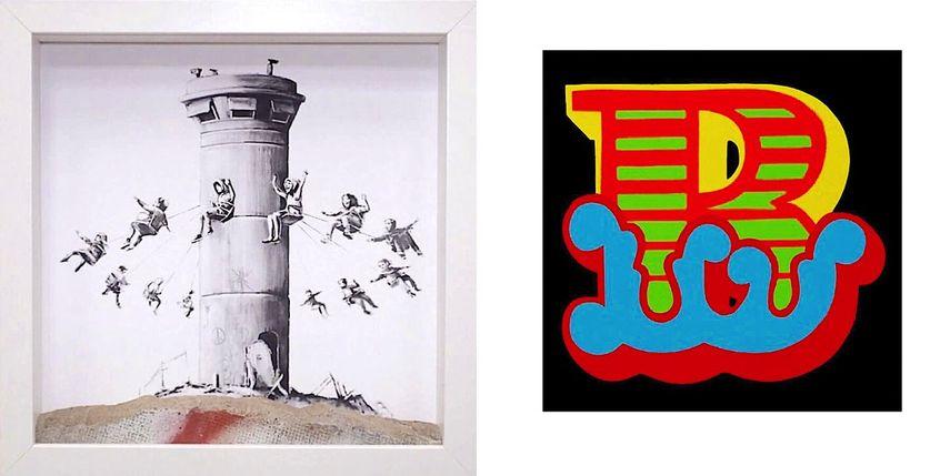 Banksy - Walled Off Hotel Boxset, Ben Eine - B - blue, Alphabet series
