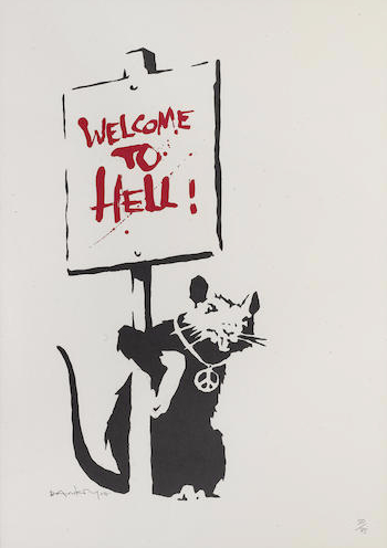 Banksy-Welcome to Hell-2004