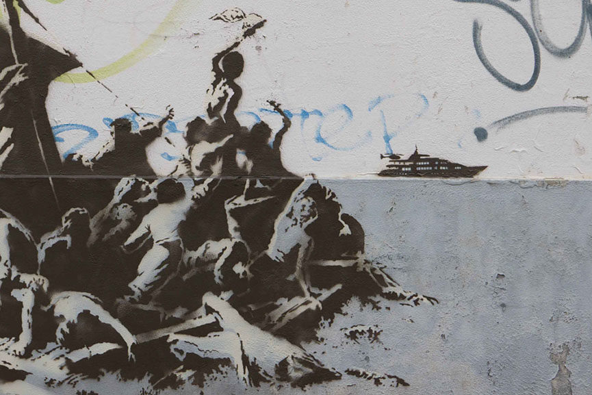 Banksy - We're not all in the same boat