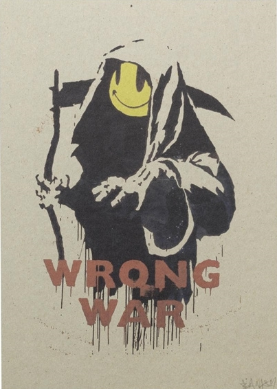 Banksy - Wrong War, 2004