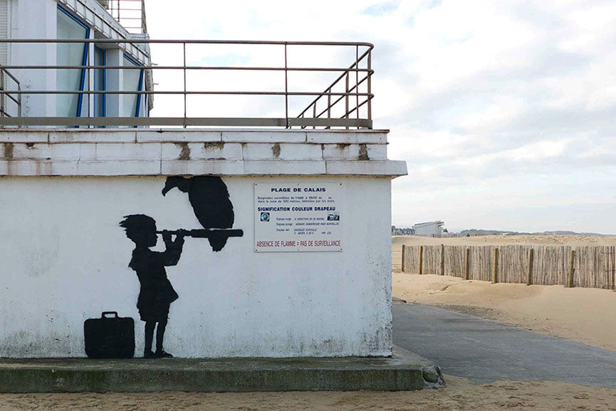 Banksy graffiti in Calais
