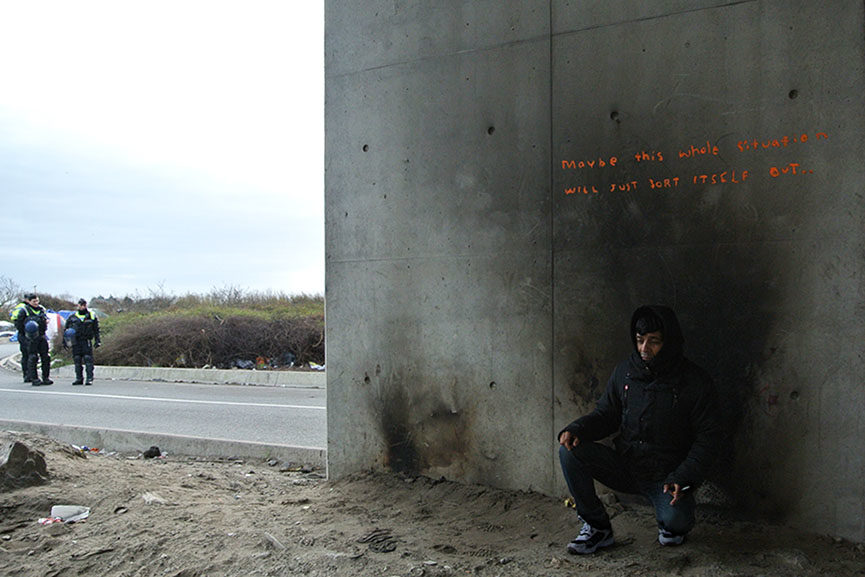 Banksy migration piece in Calais