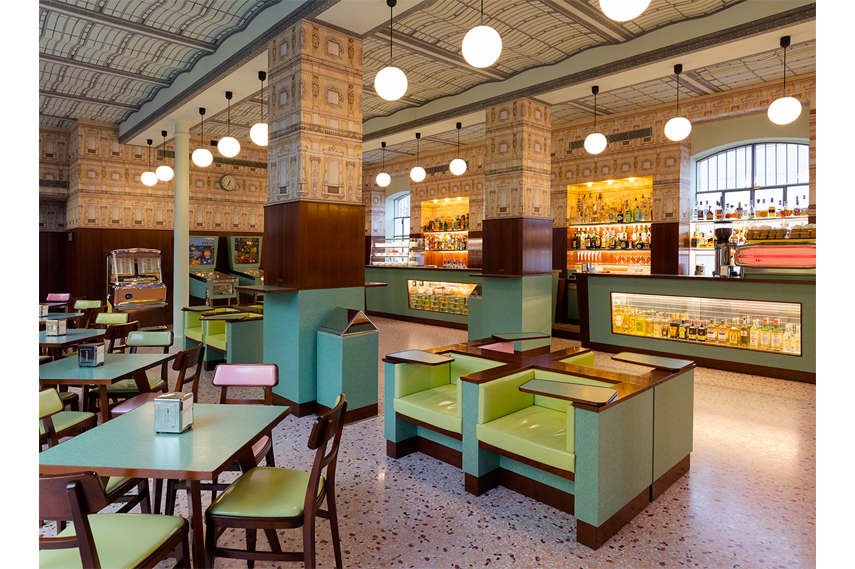 Bar Luce Interior 3 - via Fondazioneprada org