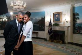 Barack Obama and Michelle Obama - Image via theartnewspapercom