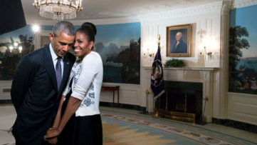 Barack Obama and Michelle Obama - Image via theartnewspapercom