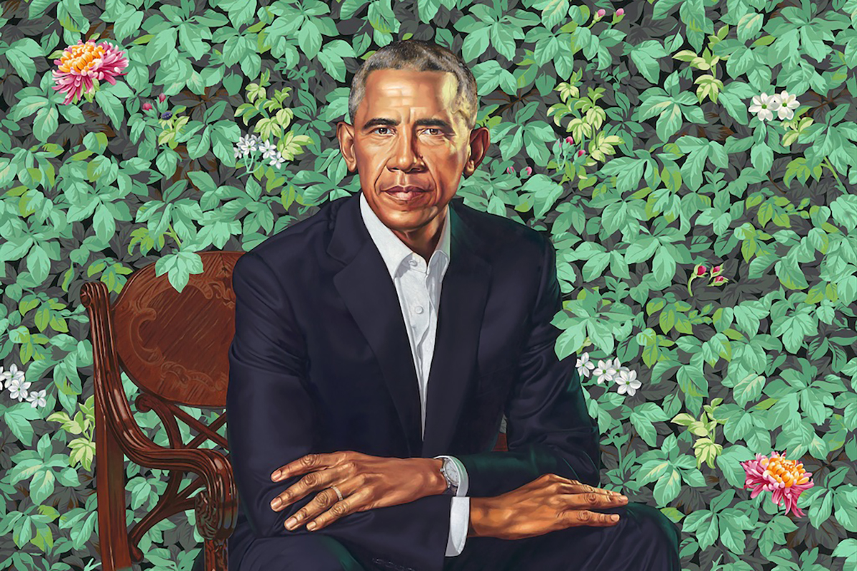President Barack Obama by Kehinde Wiley © Kehinde Wiley