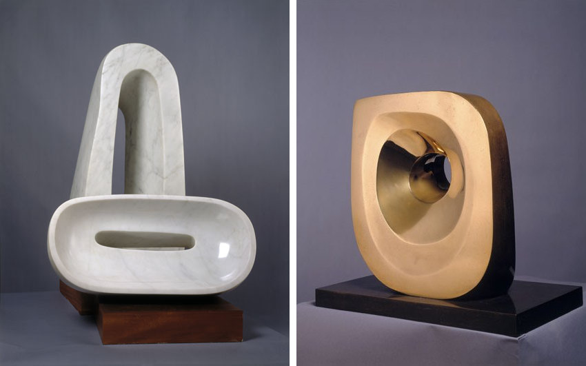 Barbara Hepworth exhibited her home landscape work in tate museum and tate gallery