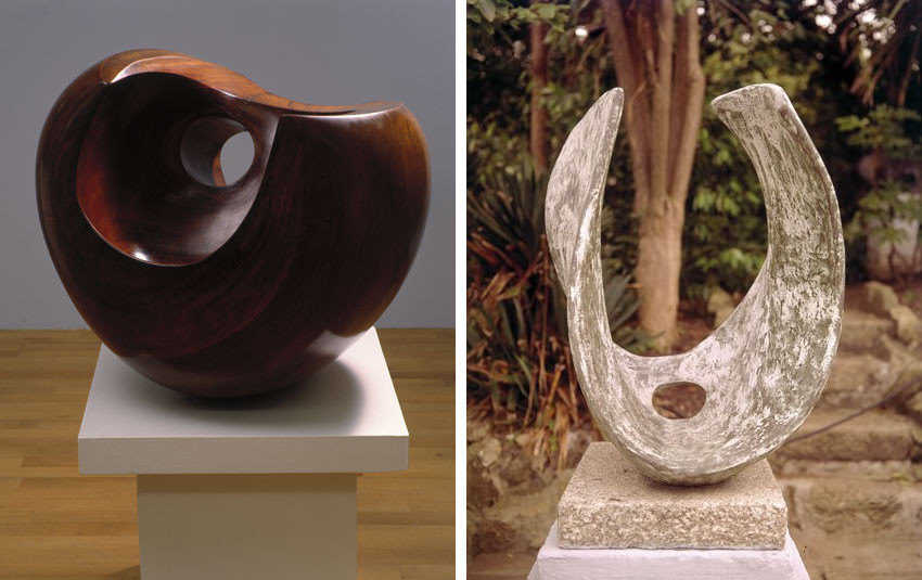 Barbara Hepworth pieces are in permanent collections of tate museum and tate gallery