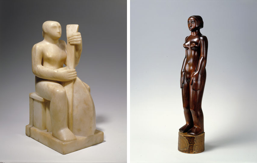 Barbara Hepworth made her pieces in garden and showed them in Tate museum and Tate gallery