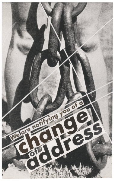 Barbara Kruger-Untitled (We Are Notifying You Of A Change Of Address)-1986