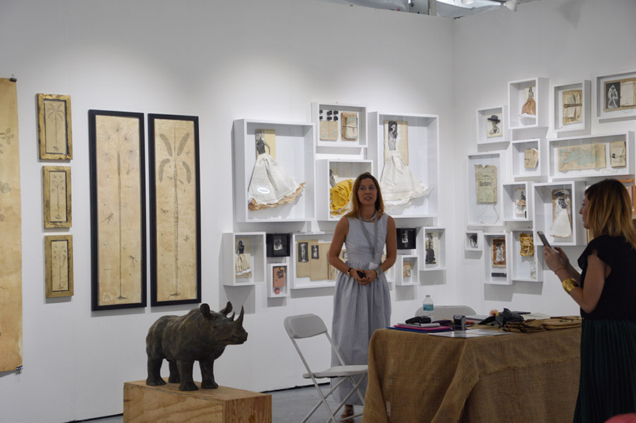 Barbara Paci Gallery featuring work by Sara Lovare and Andrea Collesaano