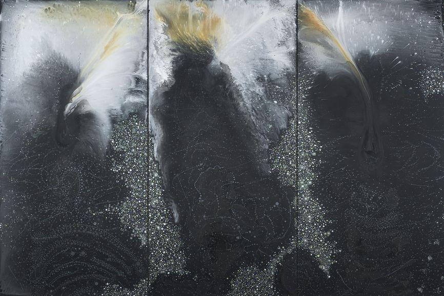 Barbara Takenaga - Black Triptych