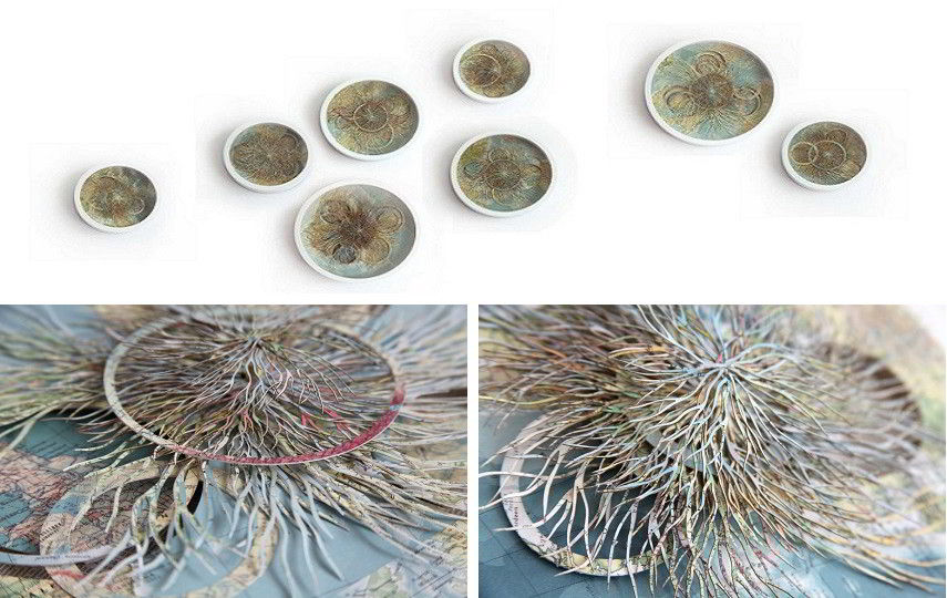Barbara Wildenboer - Rythmical Arrangment of Vorticles - 2015 (Top) / Rythmical Arrangment of Vorticles (detail) - 2015  (Bottom)