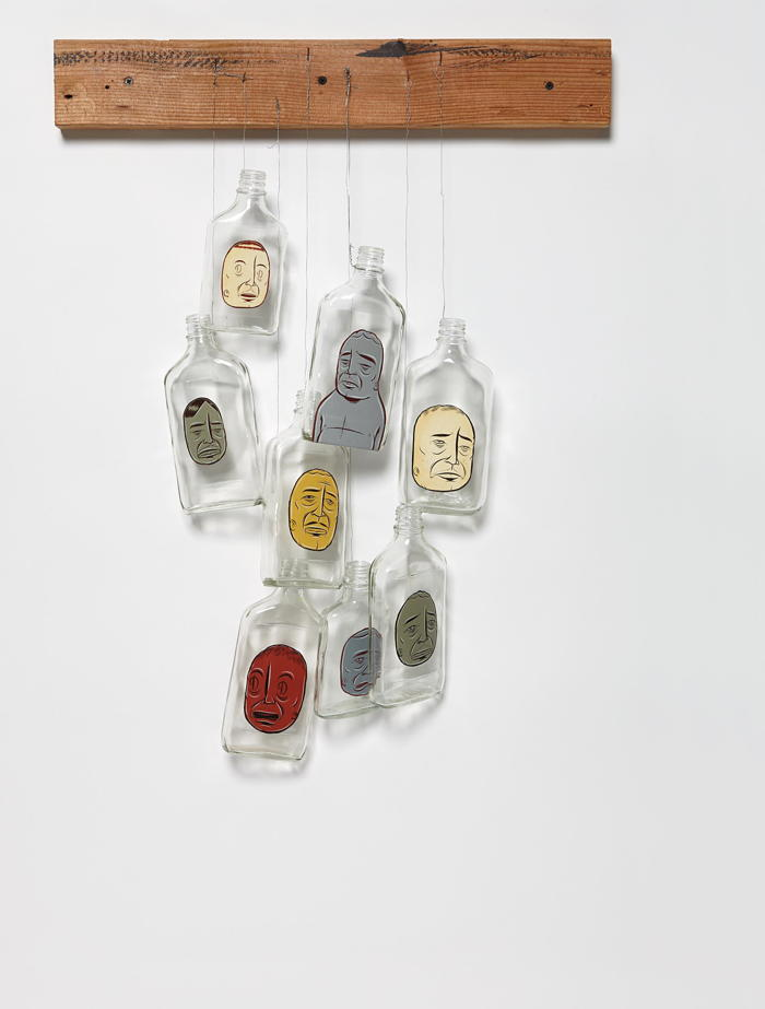 Barry McGee-Untitled (8 Bottles)-2003
