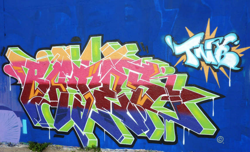 The news is that he has transferred his graffiti experience onto the canvas creating video about that process
