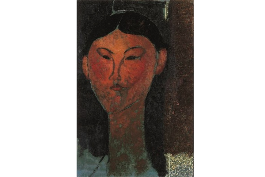 Amedeo Modigliani - Beatrice Hastings, 1915, woman portrait