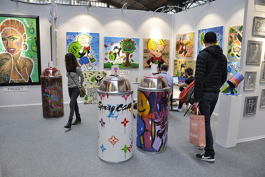 cette urbain et artistes gathered exhibitors at carreau temple in avril 2016