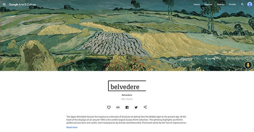 Belvedere Google Arts & Culture