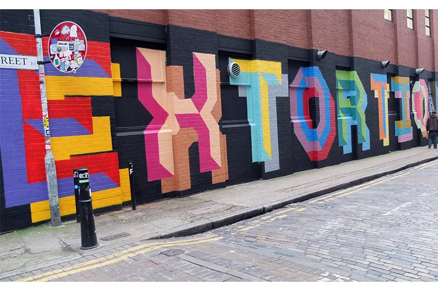 Ben Eine – Extortionists london's end