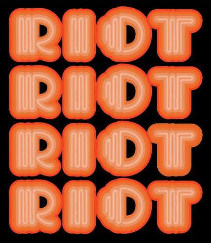Ben Eine-RIOT (Orange)-2015
