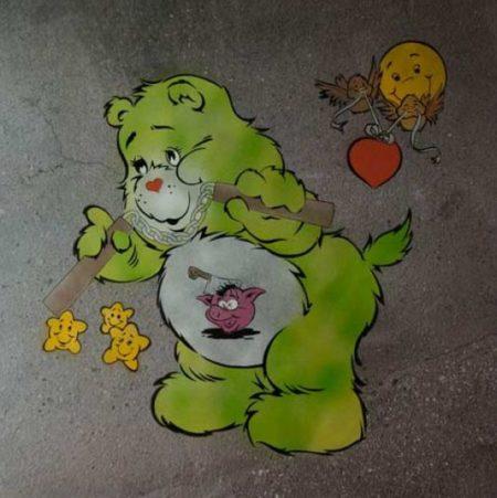 Ben Eine-Scare Bear (Green)-