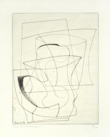Ben Nicholson-Ben Nicholson - Jug & Glass-1948