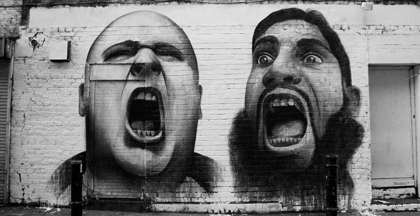 Ben Slow - Mural - Hanbury Street, London 2012 - just gallery