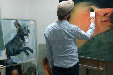 Benjamin Bjorklund - Artist in his studio - Image via plusgooglecom