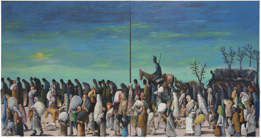Benny Andrews, Trail of Tears, 2005