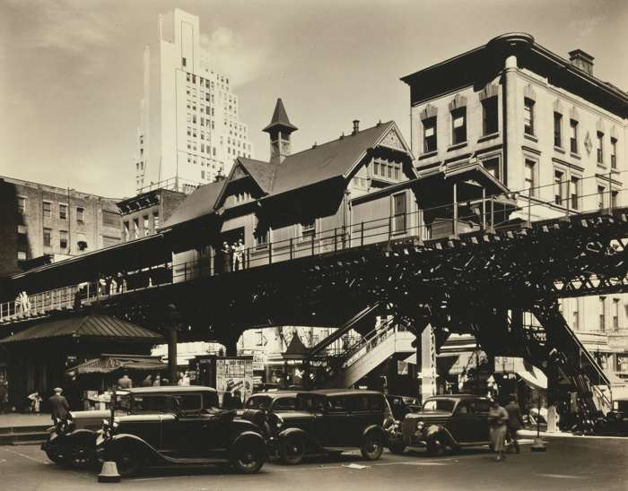 Berenice Abbott-Hanover Square-1936