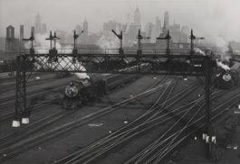 Berenice Abbott-Hoboken Railroad Yards Looking Toward Manhattan, New Jersey-1935
