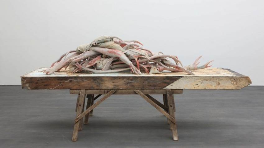Berlinde De Bruyckere - Sculptures & Drawings 2000 - 2014, installation view at S.M.A.K., Ghent, Belgium. Image credits Dirk Pauwels, hauser and wirth, wirth and hauser, and museum exhibition