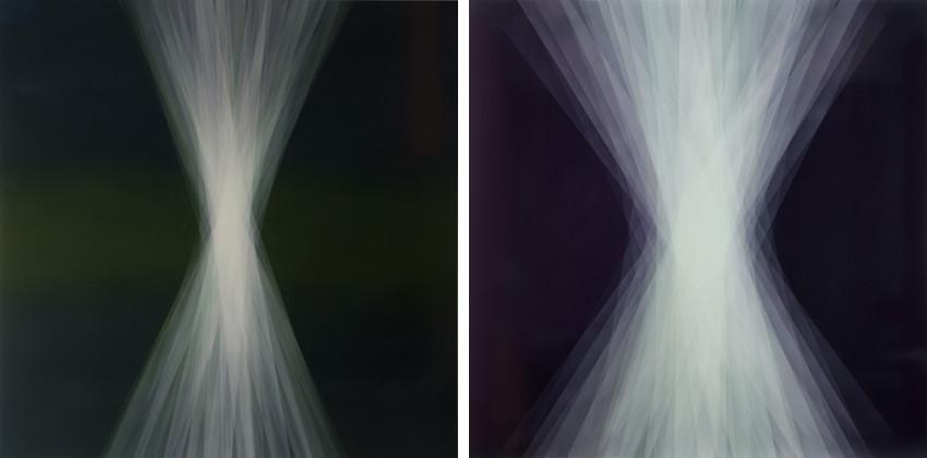 Bernadette Jiyong Frank - Spaces in Between (Green-Ruby), 2013 - Spaces in Between (Deep Purple), 2014