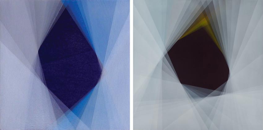 Bernadette Jiyong Frank - Transience (Blue), 2012 - Void-Emergence (Amber), 2013