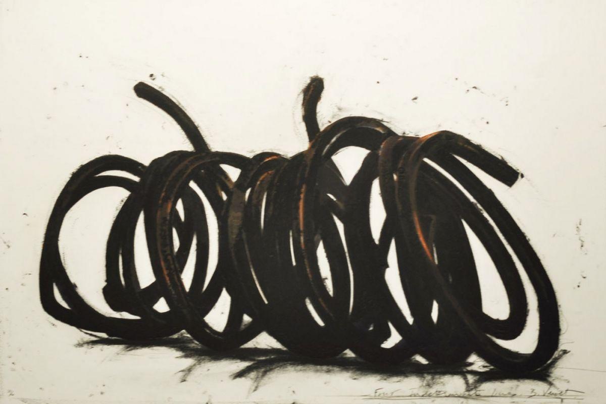 Bernar Venet - Four Indeterminate Lines, 2014