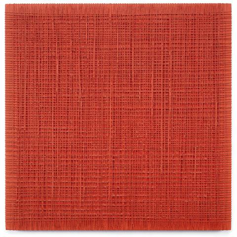 Bernard Aubertin-Monochrome Rouge Structures horizontales et verticales-1978