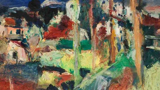 Bernard Damiano - Village in Snow (detail), 1961