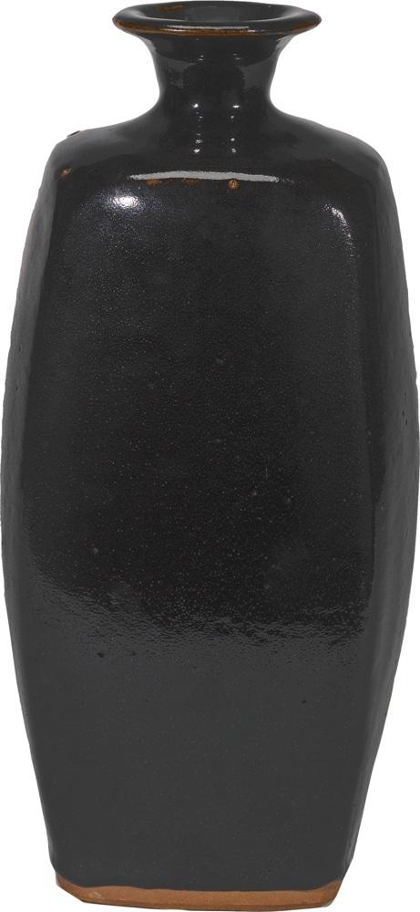 Bernard Leach-A Tall Four-Sided Bottle Form-1960