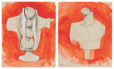 Bernard Meadows-Two Armed Busts-1964