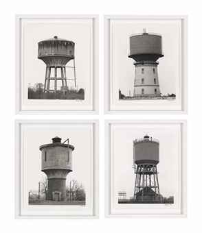 Bernd and Hilla Becher-Typology of Four: 'Water Towers', 1960s-70s-1978